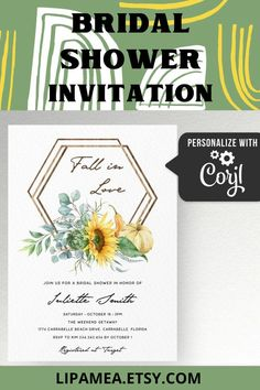 This fall bridal shower invitation with pumpkins and sunflower is an Editable template. Edit yourself using your computer, phone or any other device. Visit our #etsy shop, click on TITLE or follow this link: lipamea.etsy.com to see more info about this template #bridalshower #invitation #floral #invite #wedding #fall #truck #floral #party #trends #sunflower #pumpkin #fallinlove Fall In Love Bridal Shower, Baby Shower Fall, Fall Baby, Baby Shower Invitations For Boys, Bridal Shower Invitations, Party Invitations, Sunflower Baby Showers, Baby In Pumpkin, Boho Theme