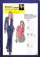 Reduced!  Butterick 5053 Misses' Suit Jacket Shirt Pants XXL-6X