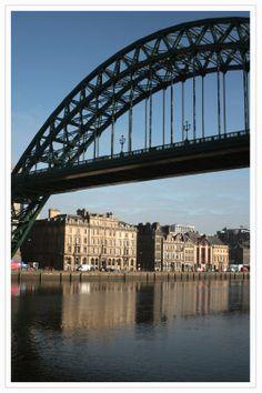 Tyne Bridge and north bank of the river, Newcastle upon Tyne