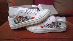 Canvas trainers with beautiful Hungarian by EmbroiderybyPiroska