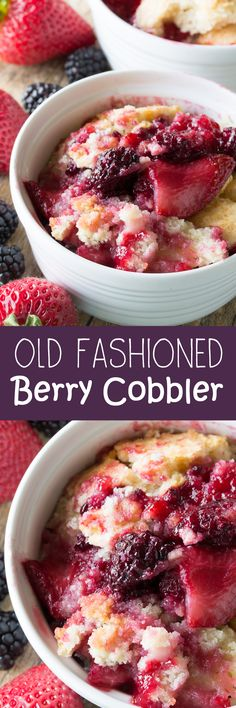Old Fashioned Seedless Blackberry Cobbler