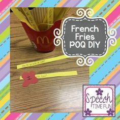 French Fries Part of Question (POQ) DIY idea!! - Speech Time Fun