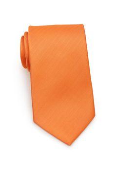 361065e1cef2 Solid Herringbone Necktie in Tangerine   Bows-N-Ties.com. Orange TieNeckties Bow ...