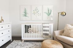 Friday Inspiration: Our Top Pinned Images — STUDIO MCGEE nursery inspiration, baby room decor, art for your nursery, botanical artwork. Baby Bedroom, Baby Boy Rooms, Baby Room Decor, Baby Boy Nurseries, Kids Bedroom, Gender Neutral Nurseries, Kids Rooms, Girl Bedrooms, Small Baby Rooms