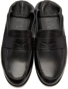 36fae46a8c6 Casualwear AW 18 19 · Loewe - Black Convertible Penny Loafers