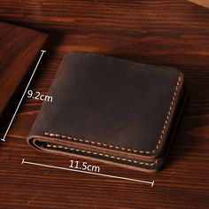 Handmade Men's Short Leather Wallet Money Purse Card Holder MT03
