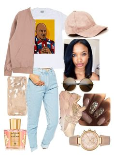 """""""show me the money"""" by zarweyah ❤ liked on Polyvore featuring Acqua di Parma, American Apparel and Michael Kors"""