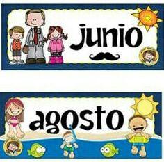 Meses Del Ano En Ingles Y Espanol Imagui Ninos Pinterest