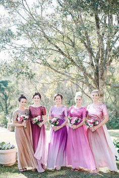 Colorful Sequin Two Piece Bridesmaid Dresses Two Piece Bridesmaid Dresses, Wedding Dresses, South African Weddings, Winter Colors, Sequins, Bright, Colorful, Beautiful, Fashion