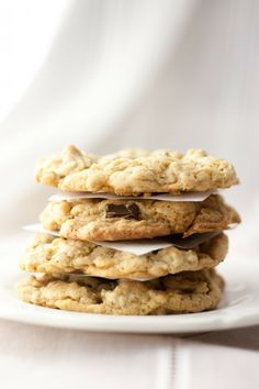 salted peanut butter chocOlate chip oatmeal cookies