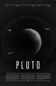 pluto from the 'under the milky way' poster series by ross berens. i could post the entire series but two are sufficient proof that ross berens is a talented graphic designer.