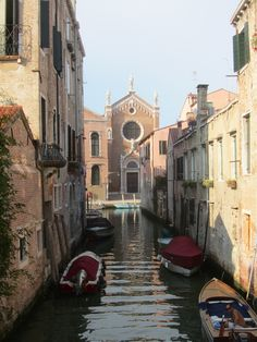 A photo of the Cannaregio neighborhood, where the main characters in my book live.