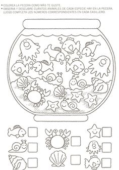 Crafts,Actvities and Worksheets for Preschool,Toddler and Kindergarten.Lots of worksheets and coloring pages. Preschool Worksheets, Preschool Learning, Kindergarten Math, Preschool Activities, Counting Worksheet, Teaching, Learning Skills, Number Worksheets, Early Learning