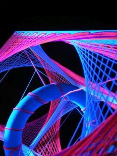 """3D String Art Deko """"Polar Lights""""  #blacklight #schwarzlicht #neon #party  #fluo #psy #deco #string #art"""