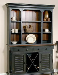 Open Shelf Buffet And Hutch Two Tone Google Search