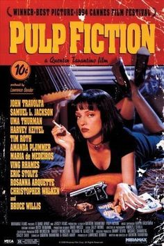 Pulp Fiction 1994 Movie Poster Used Collectors Edition Rare Quentin Tarantino Film, Uma Thurman, Bruce Willis, Eric Stoltz, Christopher Walken What would Be You Best Movie Of All Time? Best Movie Posters, Classic Movie Posters, Classic Movies, Film Posters, Art Posters, Cinema Posters, Abstract Posters, Modern Posters, Films Cinema