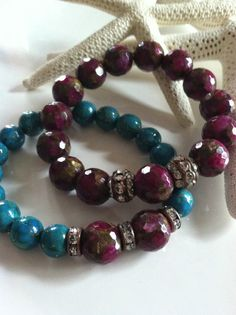 Valentine's Day  Bohemian Stretch Bracelets RUBY by jewlsoflove, $46.00  This listing is for ONE **