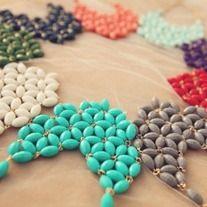 $15 shipped! Pop of floral statement necklace! Shopsugaredplum.storenvy.com