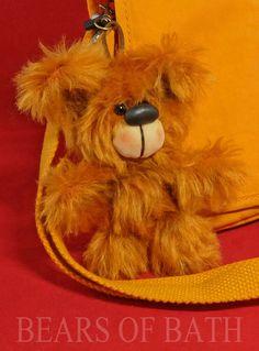 Go Anywhere Bear by Bears of Bath 4 inch mohair Keychain Hand Stitching, Bears, Teddy Bear, Teddy Bears, Bear