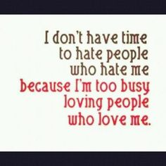 Forreal. I really don't care about all you guys that hate me. js ;)