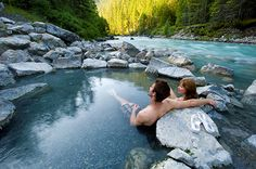 Take a soak at Lussier Hot Springs in Whiteswan Lake Provincial Park near Kimberley, BC