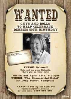 SE199 - Wanted Sign Invitation