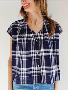 Caron Callahan Riley Shirt - Blue Plaid