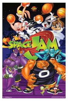 51fe37f86332f5 Space Jam Collage Poster 34x22 - Trends International