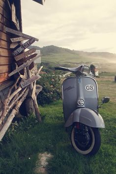 The best way to travel is on a vintage Vespa...