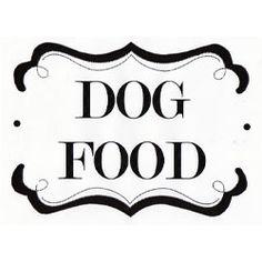 Free Printable Dog Food Can Label