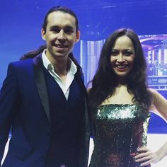 "Rencontre : Candice Parise et John Eyzen, à l'affiche de ""Believe - Holiday on Ice""  
