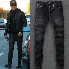 $34.99  Item Type: JeansGender: MenMaterial: Denim,CottonWash: Distressed,Destroy Wash,MediumClosure Type: Zipper FlyThickness: MidweightFabric Type: StripeDecoration: