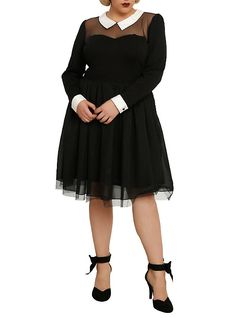 American Horror Story: Murder House Maid Dress Plus Size, BLACK