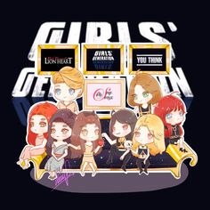 [FANART] SNSD You think + Lion Heart