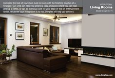 """Livign room IgniteXL™ 74"""" Linear Electric Fireplace - IgniteXL™ stands apart as more lifelike and visually stunning than anything that came before it. With new, patented flame and heat technology, IgniteXL transforms the look and feel of any room. Installation is simpler and more flexible than ever, making the possibilities almost endless. Enjoy flawless panoramic views that ignite the senses from any angle."""