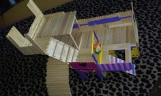 Hamster Popsicle Stick House *3 levels* not complete