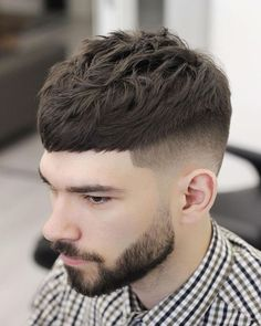 42 Best Short Haircuts For Men In 2018 - Men's Hairstyles Texture Crop Sharp Fade Trendy Haircuts, Best Short Haircuts, Girl Haircuts, Popular Haircuts, Haircuts For Men, Clean Cut Haircut, Crop Haircut, Fade Haircut, Haircut Short