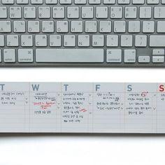 desk-it, weekly organizational post-its || $12.00