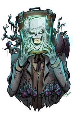 fan art for the hatbox ghost on the disneyland haunted mansion ride Hatbox ghost Ghost Comic, Comic Art, Disney Love, Disney Magic, Haunted Mansion Ride, Hatbox Ghost, Tower Of Terror, Hat Boxes, Disney Halloween