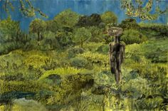 """John Lurie, Man Cannot Destroy Nature. Nature Is Too Mean, 24""""x36"""", oil on linen"""