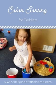 Color sorting | Sorting activities for toddlers | Sorting activities for preschoolers | Colors and Shapes