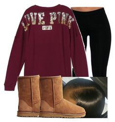 """"""""""" by leshabest ❤ liked on Polyvore featuring Victoria's Secret and UGG Australia"""