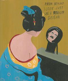 """Javier Mayoral, 2013, ein Künstler mit spanischen Wurzeln, der in den USA lebt und seine kleinen, erstaunlich vielseitigen und humorvollen Bilder laufend auf Ebay anbietet. Die FAZ widmete ihm den Artikel: """"Kunst nach Hausmacherart""""(http://www.faz.net/aktuell/feuilleton/kunstmarkt/cheap-art-kunst-nach-hausmacherart-11820798.html) Einige seiner Arbeiten sind neben vielen Arbeiten anderer Künstler in der Sammlung auf www.artbrut.li und www.aussenseiterkunst.ch zu sehen."""
