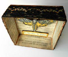Moth Shadow Box Death Death's-head Hawk-moth by JuliaPeculiar