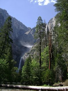 Yosemite National Park - Lower & Upper Yosemite Falls  #Yosemite #YosemiteNationalPark #YosemiteFalls #California #USA