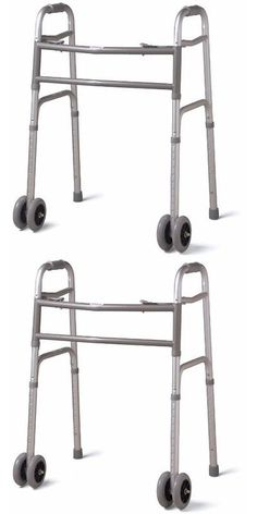 Walkers and Canes: Medline Heavy Duty Bariatric Extra Wide Folding Walker With 5 Inch Wheels, Suppo -> BUY IT NOW ONLY: $73.91 on eBay!