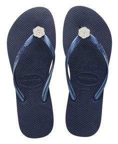 3f0b28d15 Havaianas Slim Crystal Poem – Navy Blue available at www.fabflipflops.co.uk   flipflops  beach  summer  havaianas. Fab Flip Flops