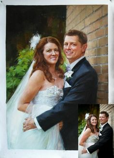 Custom Oil Portrait Wedding Painting From Photo Personalized Gift For Hand Painted Gfit