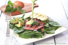 Low Carb Paleo Greens, Eggs and Ham Salad