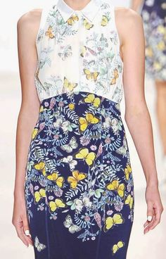 patternprints journal: PRINTS, PATTERNS AND SURFACES FROM NEW YORK FASHION WEEK (WOMAN COLLECTIONS SPRING/SUMMER 2015) / Erin Fetherston